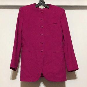 Vintage Christian Dior 100% Wool Pink Blazer